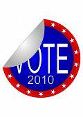 2010 Vote Sticker