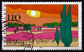 Postage Stamp Germany 1997 Luneburg Heath