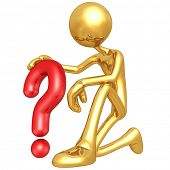 Gold Guy With Question