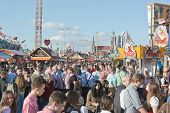 Crowds At The Octoberfest