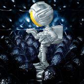 Mini Astronaut In Xeno Egg Hive