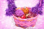 Closeup On Christmas Basket