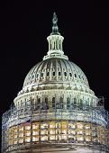 pic of laws-of-attraction  - US Capitol Dome with Construction in Capitol Hill at Night in Washington DC - JPG