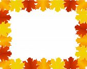 pic of thursday  - Vector empty frame with autumn leaves border - JPG