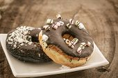 Chocolate Donut With Sprinkles .