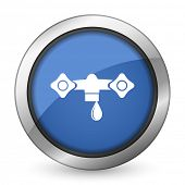 water icon hydraulics sign