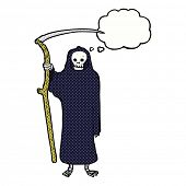 death cartoon with thought bubble