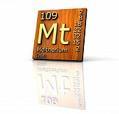 Meitnerium Periodic Table Of Elements - Wood Board poster