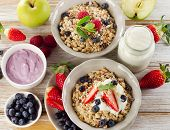 Muesli  And Yogurt For  Breakfast