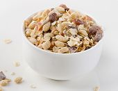 Muesli For Breakfast In A Bowl
