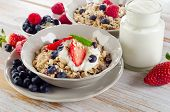 Muesli And Ripe Fruits For Breakfast