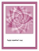 Happy Valentine´s Day Card With Abstract Floral Motif