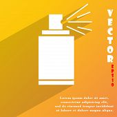 Aerosol Paint Icon Symbol Flat Modern Web Design With Long Shadow And Space For Your Text. Vector