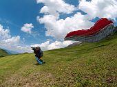 paraglider start