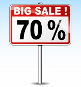 Big Sale Road Sign