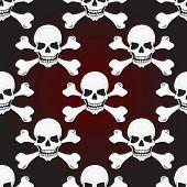 Skulls Vector Seamless Pattern