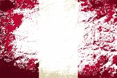 Peruvian flag. Grunge background. Vector illustration