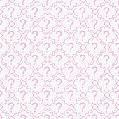 Pink And White Question Mark Symbol Pattern Repeat Background