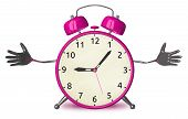 Welcoming Pink Alarm Clock