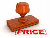 Rubber Stamp Price (clipping path included)