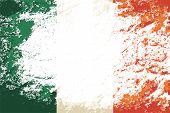 picture of irish flag  - Irish flag Grunge background - JPG