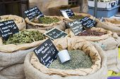 Herbs In The Market