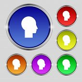 User Sign Icon. Person Symbol. Set Colourful Buttons. Modern Ui Website Navigation Vector