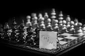 Chess Board Isolated On Black