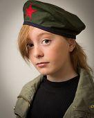 Teenage Ginger Girl In Revolution Barret Hat