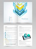 Professional two page business brochure, template or flyer design.