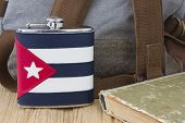 The Flask With The Cuban Flag