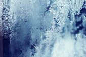 foto of frozen  - Frozen patterns background - JPG