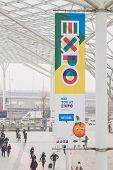 Expo Banner At Bit 2015, International Tourism Exchange In Milan, Italy