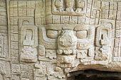 Ancient Sculpted Mayan God