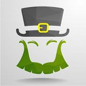 image of polygon  - detailed illustration of an abstract polygon Leprechaun - JPG