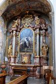 GRAZ, AUSTRIA - JANUARY 10, 2015: Altar of Saint John of God in Barmherzigenkirche church in Graz, Styria, Austria on January 10, 2015.