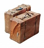 Two antique suitcases