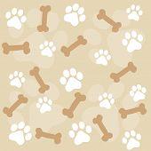 Paw Prints Seamelss Pattern