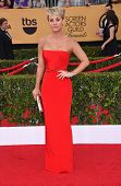 LOS ANGELES - JAN 25:  Kaley Cuoco arrives to the 21st Annual Screen Actors Guild Awards  on January 25, 2015 in Los Angeles, CA