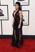 LOS ANGELES - FEB 08:  Nicki Minaj arrives to the Grammy Awards 2015  on February 8, 2015 in Los Angeles, CA
