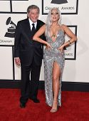 LOS ANGELES - FEB 08:  Tony Bennett & Lady Gaga arrives to the Grammy Awards 2015  on February 8, 2015 in Los Angeles, CA