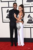 LOS ANGELES - FEB 08:  Big Sean & Ariana Grande arrives to the Grammy Awards 2015  on February 8, 2015 in Los Angeles, CA