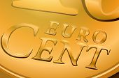 Euro cent coin close-up. EPS 10 format.