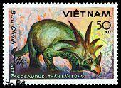 Vintage  Postage Stamp. Styracosaurus.