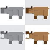 symbol icon rectangle animal hippopotamus