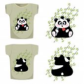 t-shirt with the image of the Panda