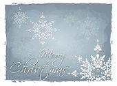 Light Blue Merry Christmas Background