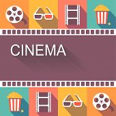Movie cinema poster and  design elements