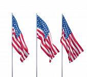 Three Flags Of Usa