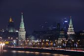 The Moscow Kremlin of night